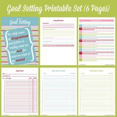 Goal Setting Template  Google Search  Visual Goal Setting