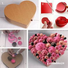 Wedding Balloon Decorations, Wedding Balloons, Heart Decorations, Valentine Decorations, Valentine Crafts, Diy Home Crafts, Diy Arts And Crafts, Easy Crafts, Paper Flower Wall