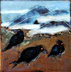 Balloor Crows Crows, Stoneware, Ceramics, Landscape, Drawings, Artist, Pictures, Painting, Ravens