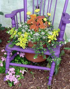 Chair Flower Pots