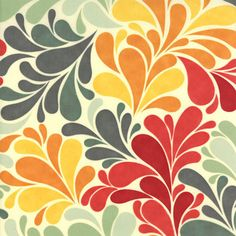 """Cosmo Cricket fabric """"Salt Air ROT Sea Garden Summer"""" distributed by Moda Fabrics. Laminated Cotton Fabric, Ribbon Retreat, Strawberry Patch, Pattern Wallpaper, Decoration, Color Patterns, Pretty Patterns, Scrapbook Paper, Etsy"""