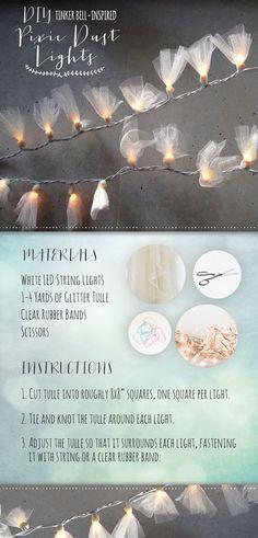 DIY Tinker Bell-Inspired Pixie Dust Lights