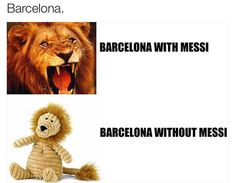 Not really, but still kinda funny. Neymar and Suarez handled the responsibility just fine.