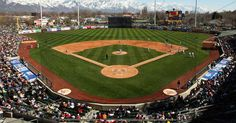 Spring Mobile Ballpark - Home of the Salt Lake Bees, Angels Triple-A Team Baseball Park, Baseball Field, Bee Games, Landscape Design, Garden Design, Utah Utes, City Events, Minor League Baseball, Utah Jazz