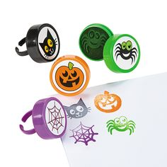 Halloween Stamper Rings - OrientalTrading.com