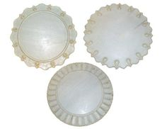 Vincente Wolf white marble serving platters