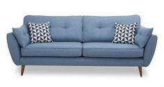 Single row of buttons Zinc 4 Seater Sofa Zinc Dfs Zinc Sofa, Dfs Sofa, Sofa Chair, Retro Sofa, Vintage Sofa, Furniture Styles, Sofa Furniture, Fabric Sofa, Cushions On Sofa