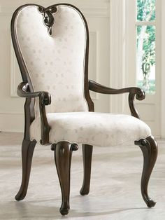 American Drew Jessica McClintock Couture Upholstered Fabric Arm Chair in Mink -