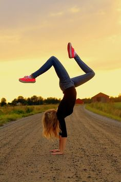 It's just that urge to take a dare and do a gymnastics move anywhere . Even if it's a dangerous place to...
