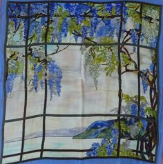 Silk scarf printed in Korea for Metropolitan Museum for Art, 1998 Metropolitan Museum, Korea, Silk, Printed, Painting, Art, Art Background, Painting Art, Kunst