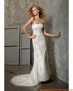 Moderne Brautkleider mit Spitze mit Jacke aus Spitze Kolumne mit Schleppe
