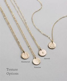 Personalized, Everyday Chain with Small Coin/Disk - Gold Fill, Sterling Silver or Rose - Disc Necklace, Diamond Pendant Necklace, Garnet Necklace, Diamond Necklaces, Diamond Jewelry, Diamond Mangalsutra, Gold Necklace Simple, Gold Circle Necklace, Rose Gold Jewelry