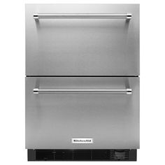 Double Drawer Freezerless Refrigerator In Stainless