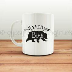 Daddy Bear Mug  Bear Mug  Arrow Print Mug  by GypsyJunkClothing