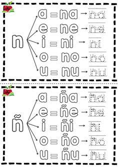 #lectoescritura Fantástico silabario para colorear trazar y aprender -Orientacion Andujar