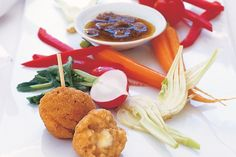 These crispy golden rice balls make fine antipasti fare at parties and functions.