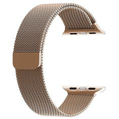 58dd548b008 top4cus Double Electroplating Milanese Loop Stainless Ste... Apple Watch De  Ouro