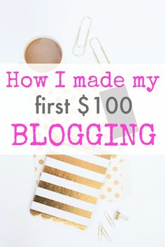 How I made my first $100 blogging, and how you can, too! Trust me, this is the absolute easiest way to make money blogging and requires practically no effort on your part. If you're ready to start a blog or just started one but aren't sure how to make money, this post can get you started!!