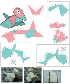 Porygon paper craft patern by ~Plume-Rouge on deviantART
