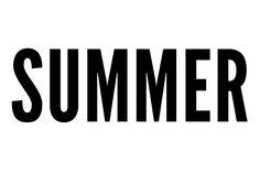 """""""SUMMER"""" text"""