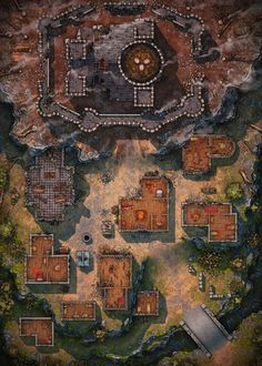 Fantasy City Map, Fantasy Town, Dungeons And Dragons Homebrew, D&d Dungeons And Dragons, Fantasy Art Landscapes, Fantasy Landscape, Mazes And Monsters, Dnd World Map, Pathfinder Maps