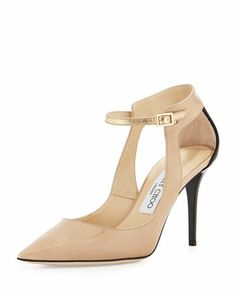 Malta Snake & Patent Pump, Nude by Jimmy Choo - can't decide the black or nude!