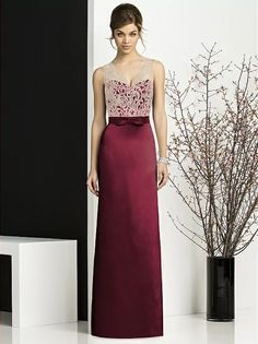 After Six Bridesmaids Style 6675 (shown in burgundy)