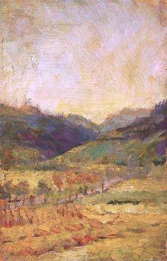 "bofransson: "" Slevogt, Max Landschaftsskizze bei Neukastel, 1920. """