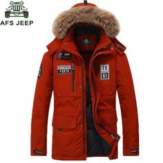 Afs Jeep 2017 80% White Duck Jacket Men Jackets Casual Warm Winter Coat Men Thick Windbreaker Parka Big Size Fur Hooded Collar -*- AliExpress Affiliate's buyable pin. Detailed information can be found on www.aliexpress.com by clicking on the image #Men'sparka
