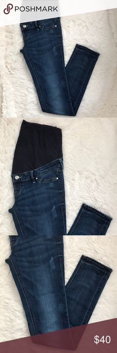 H&M Mama Skinny High Rib Maternity Jeans H&M Mama Skinny High Rib Maternity Jeans. These were my absolute favorite maternity jeans, because you couldn't even tell that they were maternity! They are so cute and flattering! Size 10. Excellent condition! H&M Jeans Skinny