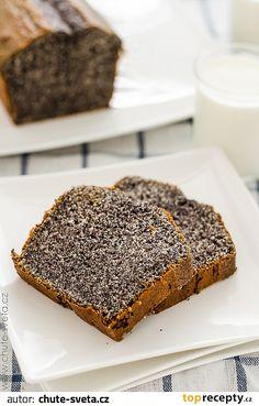 Poppy Seed Loaf/Cake - So delicious. Slovak Recipes, Czech Recipes, Sweets Recipes, Baking Recipes, Eastern European Recipes, Something Sweet, Sweet Bread, Banana Bread, Cupcake Cakes