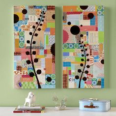 Cassia's Blog: Paineis em patchwork - like the use of color and contrast