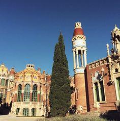 Sant Pau - um dos lugares mais lindos de Barcelona.