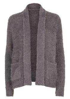 Fluffy Yarn Cardigan