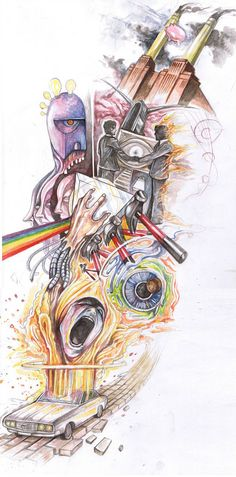 The Epic Pink Floyd Tattoo / by crazieburd #deviantart