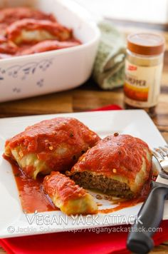 #Vegan cabbage rolls - Click image to find more Food & Drink Pinterest pins