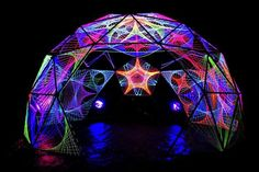 DIY Project Extreme Glow Craft: another cool pic of String Art Dome