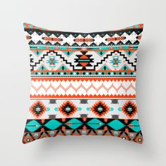 Navaho Pattern Throw Pillow Cover Case Sizes 17x17 20x20 by Bany6, $24.99