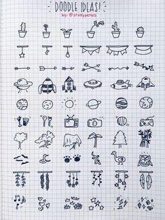 Bullet journal doodles ideas page. Adorable!
