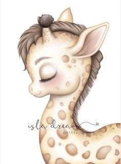 Gerald the giraffe print- Isla Dream Prints Giraffe Drawing, Baby Animal Drawings, Giraffe Art, Kawaii Drawings, Easy Drawings, Gerald The Giraffe, Baby Animals, Cute Animals, Nursery Prints