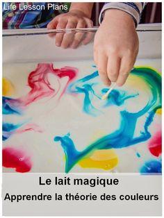 Le lait magique: faire du papier marbré