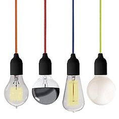 Cool, modern, and inexpensive for a light fixture- an alternative to lame, expected or far-out-of-my-budget lighting :)