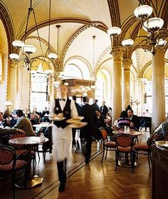 #EatLikeALocal at Cafe Central in Vienna, known for the best, flakiest strudel in town // Best Breakfasts Around the World