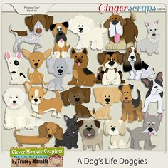 A Dog's Life Doggies by Clever Monkey Graphics   #digitalscrapbooking  #sticker #layout #scrapbook #scrapbooking #photography #photoshop #dog #breed #doggies