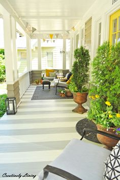 Paint Your Porch with Stripes! - Creatively Living Blog