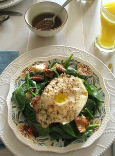 Breakfast Salad with Cinnamon Toast Croutons and Maple Vinaigrette from @A Spicy Perspective