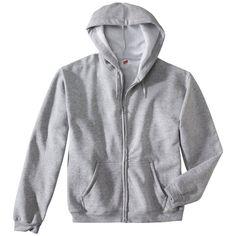 Hanes Premium Men's Fleece Zip-Up Hooded Sweatshirt - Grey Xxl