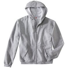Hanes Premium Men's Fleece Zip-Up Hooded Sweatshirt - Grey Xxl