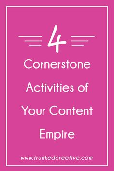 Build your content empire with these 4 must-do activities for business owners and bloggers!
