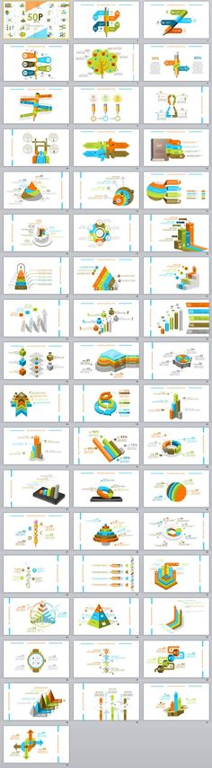 50+ Best Infographics chart PowerPoint template